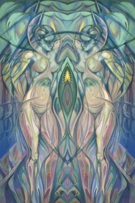 Natures Seed - 14x21 | Mixed_media by artist Mario Castillo | digital art
