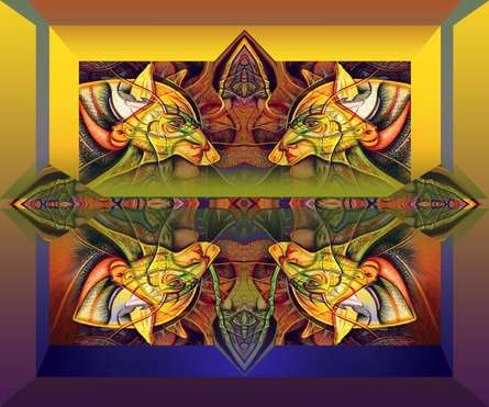 Mixed Media Painting titled 'Pack Of Wolves 20x24' by artist Mario Castillo on digital art