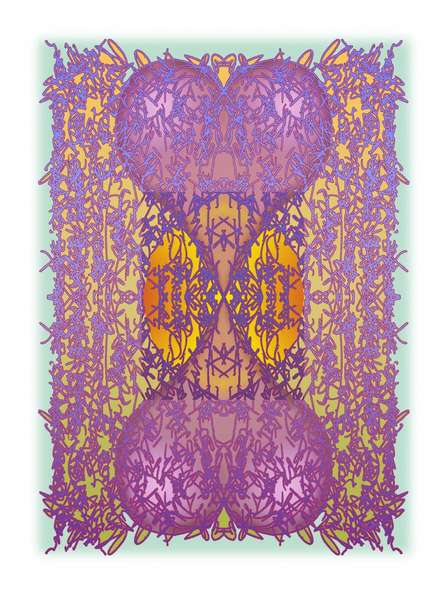 Mario Castillo | Purple Hearts Mixed media by artist Mario Castillo on digital art | ArtZolo.com