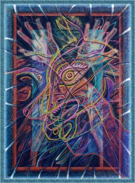 Mario Castillo | Rakshasa Shapeshifter 24x32 5 Mixed media by artist Mario Castillo on digital art | ArtZolo.com
