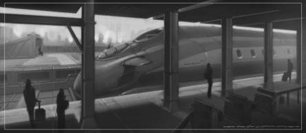 Future Rail | Digital_art by artist Digbejoy Ghosh | Art print on Canvas