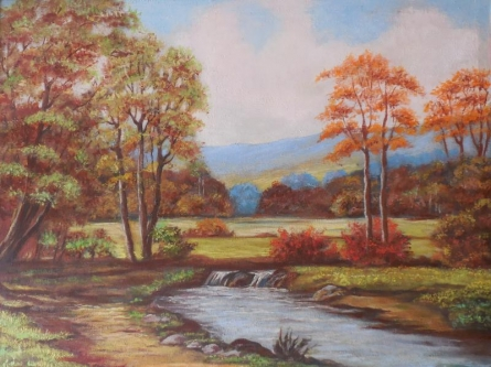 Landscape | Painting by artist Kaladikam Arts | oil | Canvas