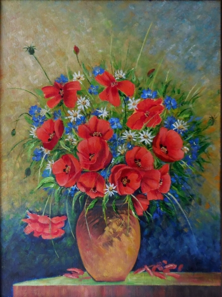 Poppy | Painting by artist Kaladikam Arts | oil | Canvas