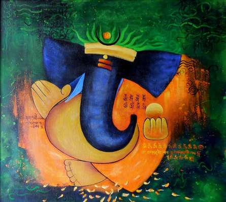 Vignaharta | Painting by artist Kaladikam Arts | acrylic | Canvas