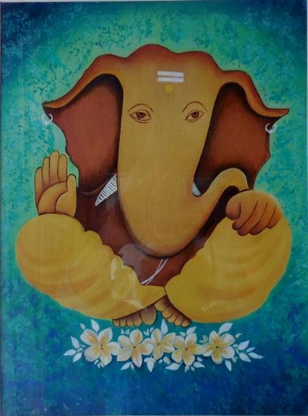 Kaladikam Arts | Oil Painting title Vinayak on Canvas | Artist Kaladikam Arts Gallery | ArtZolo.com