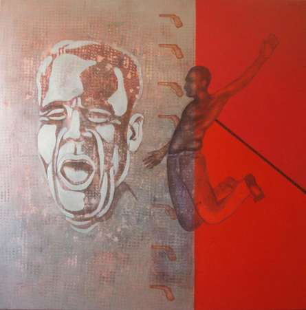 19 kick out | Painting by artist Satish Kale | acrylic | Canvas