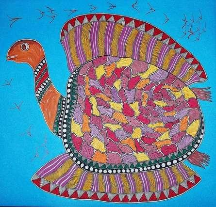 Tortoise | Painting by artist Preeti Das | acrylic | Canvas