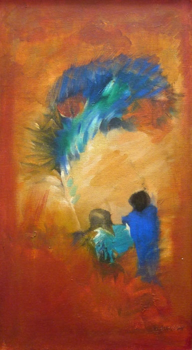 Abstract Acrylic Art Painting title Colors by artist Ranjan Gala