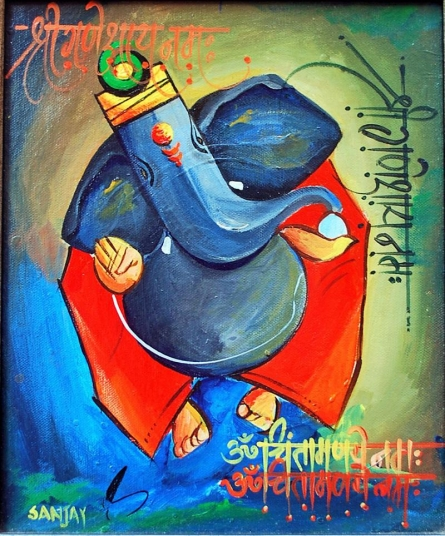 Dsc 4698 2   Painting by artist Sanjay Damodar Raut   acrylic   Canvas