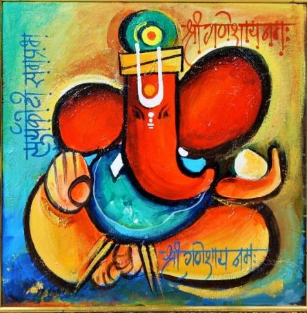 Lord Ganesha | Painting by artist Sanjay  DamodarRaut | acrylic | Canvas