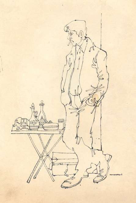 Pen-ink Paintings | Drawing title Mario Miranda Original B172 on Paper | Artist Mario Miranda