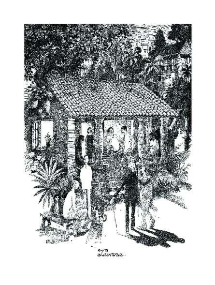 Taverna (1982) | Painting by artist Mario Miranda | other | Paper