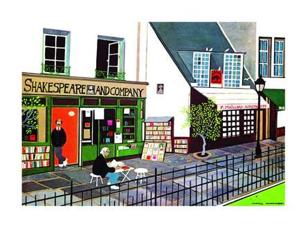 Shakespeare and Company | Painting by artist Mario Miranda | other | Paper