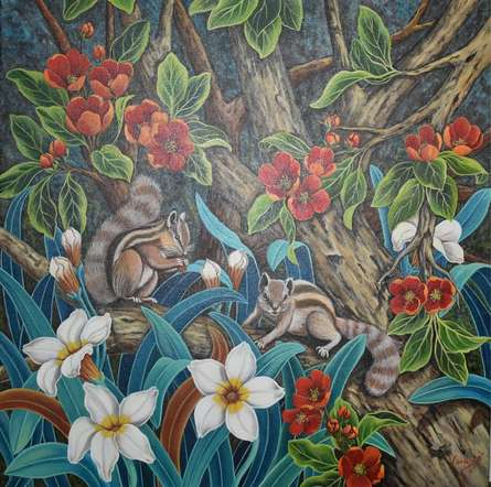 Nature Acrylic Art Painting title Untitled 1 by artist Vani Chawla