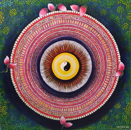 #mandala #spiritual #peaceful #colourful #canvas #contemporary #meditation