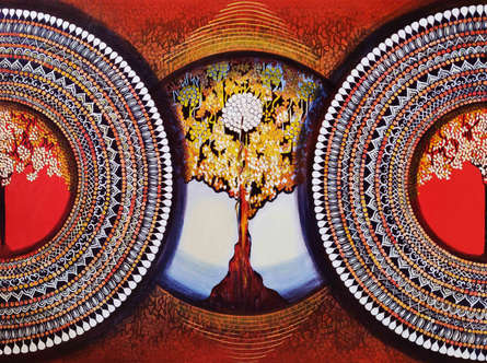 Nature Acrylic Art Painting title 'Mandala- Expansion Beyond Dimension 2' by artist NITU CHHAJER