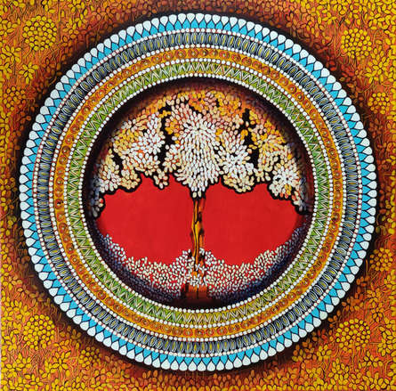 Nature Acrylic Art Painting title 'Mandala- Soul Connection Series 7' by artist NITU CHHAJER