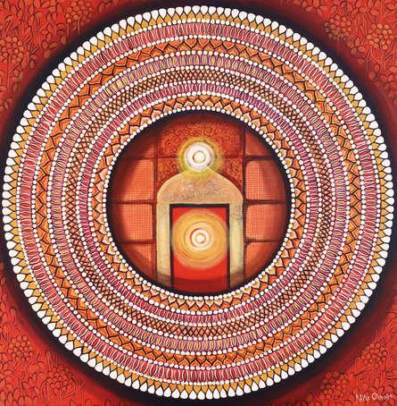 contemporary Acrylic Art Painting title 'Mandala - Awekening Light Inside A' by artist NITU CHHAJER