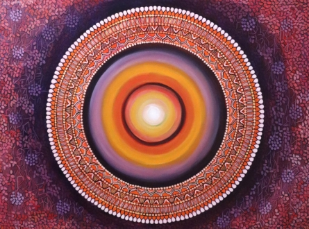 Nature Acrylic Art Painting title The Light Inside 4 by artist NITU CHHAJER