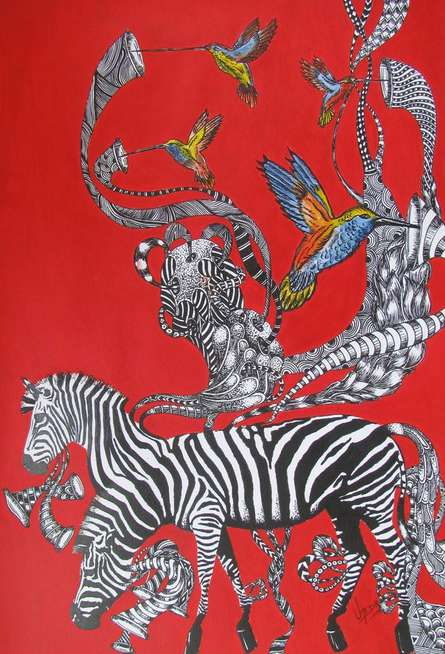 Time Travel IV | Painting by artist Umed Rawat | acrylic | Paper