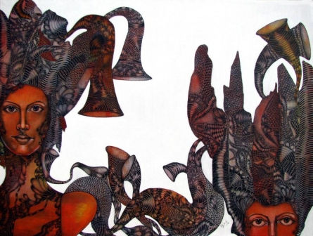 Untitled1 | Painting by artist Umed Rawat | acrylic | Canvas