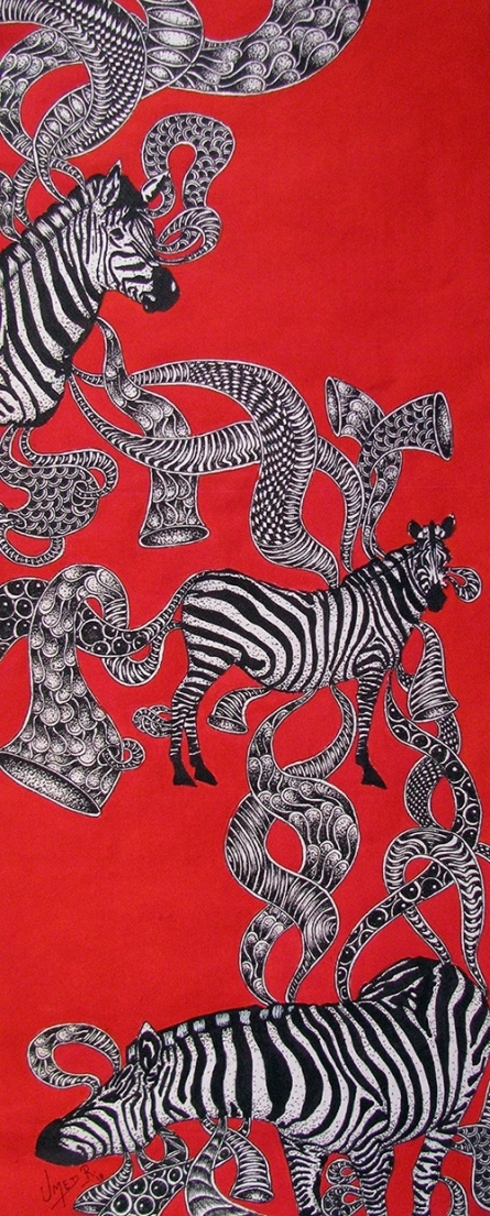 Animals Acrylic Art Painting title 'Untitled 8' by artist Umed Rawat