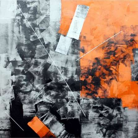 Orange Abstract | Painting by artist Sudhir Talmale | oil | Canvas