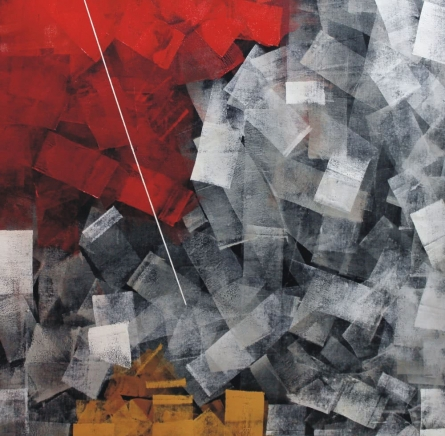 Abstract Oil Art Painting title 'Untitled 12' by artist Sudhir Talmale