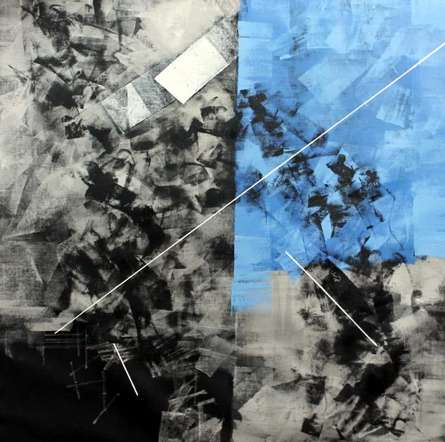 Blue Abstract | Painting by artist Sudhir Talmale | oil | Canvas