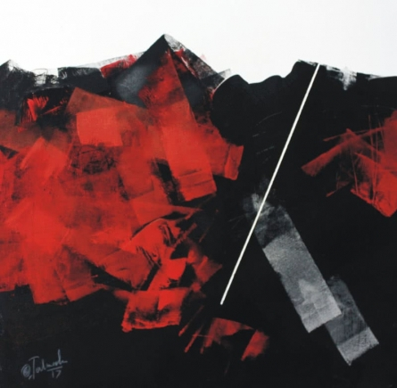 Sudhir Talmale | Oil Painting title Untitled 8 on Paper | Artist Sudhir Talmale Gallery | ArtZolo.com