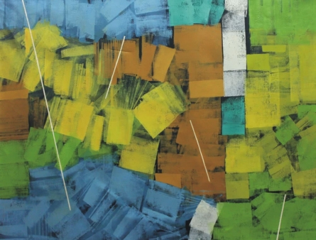 Abstract Oil Art Painting title 'Untitled 38' by artist Sudhir Talmale
