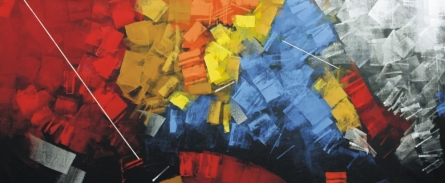 Abstract Oil Art Painting title 'Untitled 24' by artist Sudhir Talmale