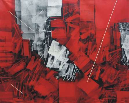 Untitled 10 | Painting by artist Sudhir Talmale | oil | Canvas