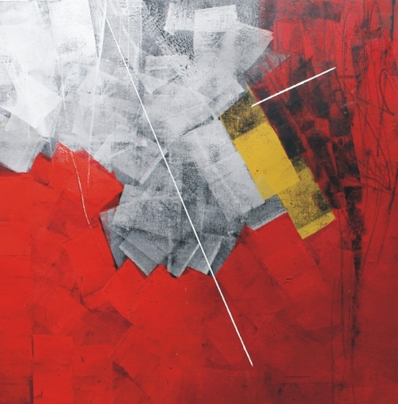 Abstract Oil Art Painting title 'Untitled 51' by artist Sudhir Talmale