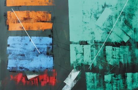 Sudhir Talmale | Oil Painting title Untitled 64 on Canvas | Artist Sudhir Talmale Gallery | ArtZolo.com