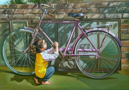 Figurative Oil Art Painting title Untitled 1 by artist Gopal Sharma