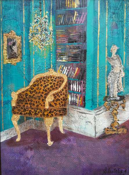 Baroque 6 | Painting by artist Sheetal Singh | acrylic | Canvas