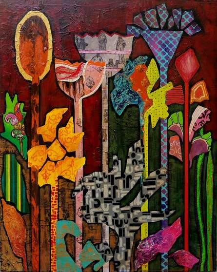 Flowers | Painting by artist Sheetal Singh | acrylic | Canvas
