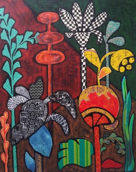 Sheetal Singh Paintings | Acrylic Painting - Flowers 3 by artist Sheetal Singh | ArtZolo.com