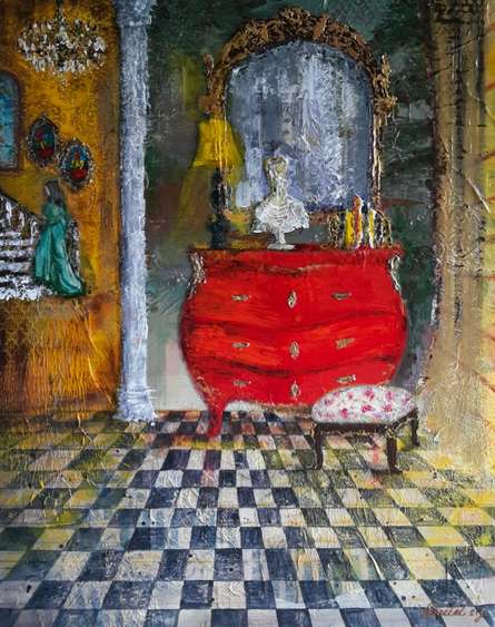 Baroque 15 | Painting by artist Sheetal Singh | acrylic | Canvas