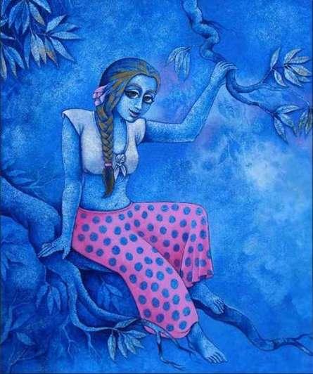 Ramchandra B Pokale | Acrylic Painting title Branch And Sway on Canvas | Artist Ramchandra B Pokale Gallery | ArtZolo.com