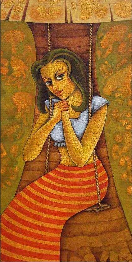 Lilting Memories | Painting by artist Ramchandra B Pokale | acrylic | Canvas