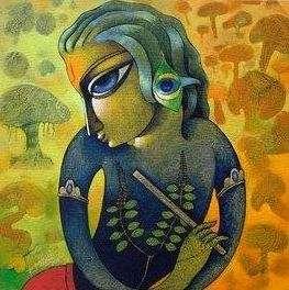 Bansidhar I | Painting by artist Ramchandra B Pokale | acrylic | Canvas