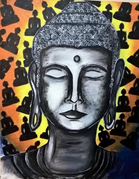 buddha | Painting by artist Sai Sravanthi | acrylic | Canvas Board