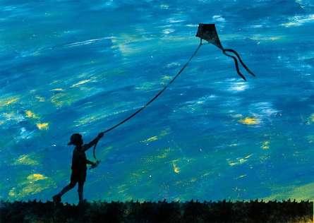 Suraj Lazar | Kite Digital art Prints by artist Suraj Lazar | Digital Prints On Canvas, Paper | ArtZolo.com