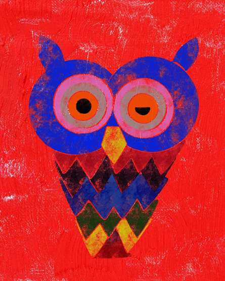 Owl   Digital_art by artist Suraj Lazar   Art print on Canvas