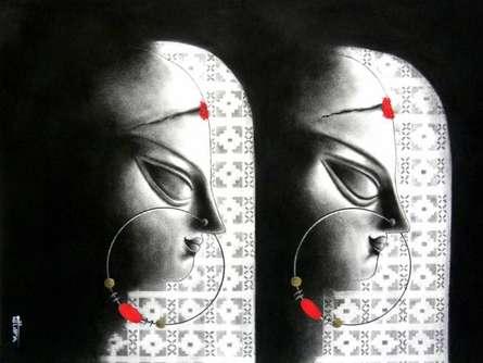 Devi - 13 | Drawing by artist Uttara Joshi |  | charcoal | Paper