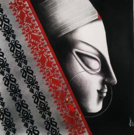 Devi 28 | Painting by artist Uttara Joshi | mixed-media | Paper