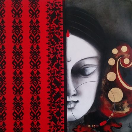 Devi 32 | Painting by artist Uttara Joshi | mixed-media | Canvas