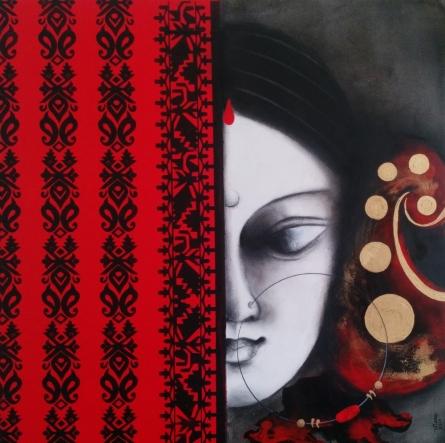 Devi 32 | Painting by artist Uttara Joshi | mixed-media | Canvas